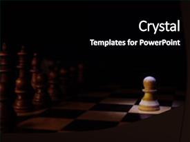 Presentation theme enhanced with chess - oppening move - chosen one background and a black colored foreground