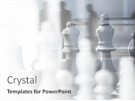 Presentation theme enhanced with chess-strategic-business-plan background and a white colored foreground