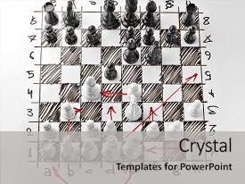 Beautiful slide deck featuring chess white board with chess backdrop and a light gray colored foreground.