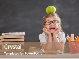 Colorful theme enhanced with children - back to school and happy backdrop and a coral colored foreground