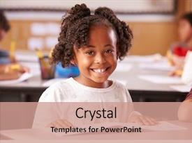 Beautiful theme featuring children - portrait of african american elementary backdrop and a coral colored foreground