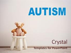 1000 autistic child powerpoint templates w autistic child themed slide deck featuring children autism concept children stool background and a lemonade colored foreground toneelgroepblik Gallery
