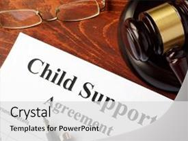 PPT theme featuring children - child support agreement background and a light gray colored foreground.