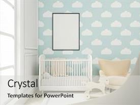 PPT layouts enhanced with vertical - children - close up background and a light gray colored foreground.