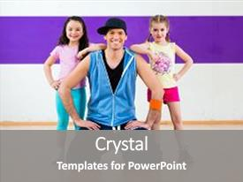 200 zumba powerpoint templates w zumba themed backgrounds ppt theme with children in modern zumba group background and a gray colored foreground toneelgroepblik Gallery