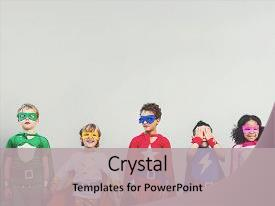 5000 children superhero powerpoint templates w children superhero