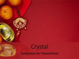 5000 chinese powerpoint templates w chinese themed backgrounds cool new presentation with coins of luck backdrop and a crimson colored foreground toneelgroepblik Choice Image