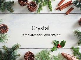 Presentation enhanced with christmas background with christmas decorations background and a white colored foreground.