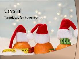 Colorful slides enhanced with christmas background with tangerines backdrop and a light gray colored foreground.
