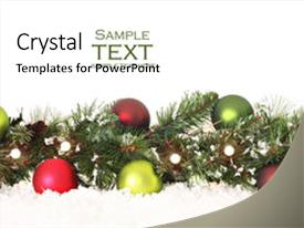 5000 Christmas Border Of Evergreen Powerpoint Templates W