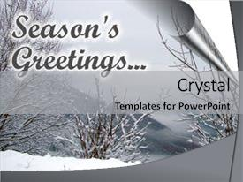 Presentation theme enhanced with christmas card image with season background and a light gray colored foreground.