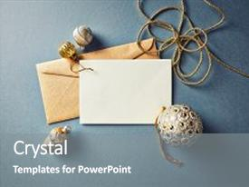 Cool new presentation design with christmas card with golden christmas backdrop and a gray colored foreground.
