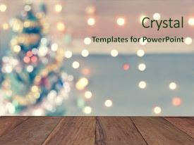 Colorful slide deck enhanced with christmas celebration and artwork design backdrop and a soft green colored foreground.