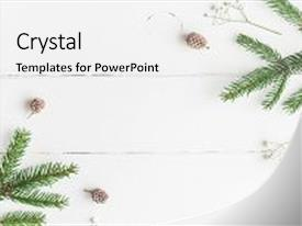 Colorful presentation theme enhanced with christmas composition frame made backdrop and a white colored foreground.
