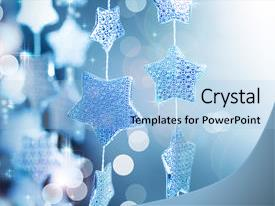 Slide deck with christmas decoration winter background and a light blue colored foreground.
