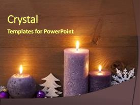 PPT theme featuring christmas decoration with light purple background and a  colored foreground.