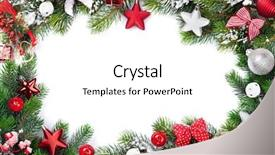 Cool new presentation theme with christmas frame background with baubles backdrop and a white colored foreground