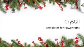 Slide deck consisting of christmas frame background and a white colored foreground