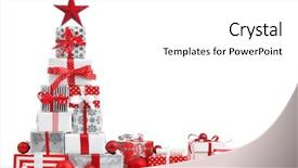 Theme featuring christmas gift boxes on white background and a white colored foreground