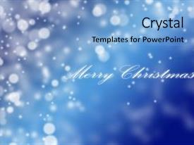 5000 Blue Text Christmas Powerpoint Templates W Blue Text