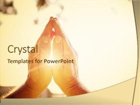 PPT layouts featuring church - praying hands background and a cream colored foreground