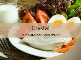 PPT theme enhanced with clean food clean food breakfast background and a coral colored foreground.