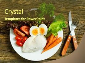 Beautiful PPT layouts featuring clean food clean food breakfast backdrop and a tawny brown colored foreground.
