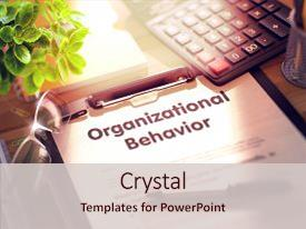100 organizational behavior powerpoint templates w organizational slide deck consisting of clipboard with concept organizational behavior background and a lemonade colored foreground toneelgroepblik Gallery