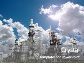5000 industrial powerpoint templates w industrial themed backgrounds audience pleasing ppt theme consisting of oil refinery plant form industry backdrop and a gray colored toneelgroepblik Images