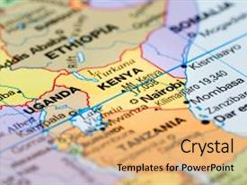 Kenya powerpoint templates ppt themes with kenya backgrounds colorful slides enhanced with close up of a world map with the country of toneelgroepblik Images