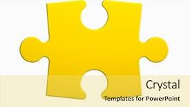 Slides having closeup of jigsaw puzzle piece background and a yellow colored foreground