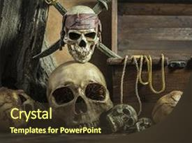 5000 pirate powerpoint templates w pirate themed backgrounds cool new presentation theme with closeup skull with two backdrop and a tawny toneelgroepblik Image collections