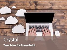 Cool new PPT theme with information security - cloud computing technology concept backdrop and a gray colored foreground.
