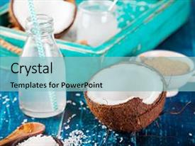 5000 coconut powerpoint templates w coconut themed backgrounds ppt theme having with oil water background and a light toneelgroepblik Images