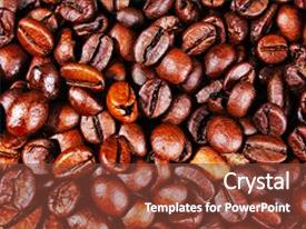 Presentation design featuring coffee texture roasted coffee beans as background wallpaper beautiful arabica real cofee bean illustration for any concept gourmet coffee beans macro closeup studio photo texture background background and a tawny brown colored foreground.
