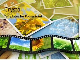 Cool new theme with media video - photos and film with images backdrop and a gold colored foreground