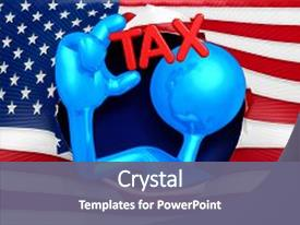 top 3d man american flag powerpoint templates backgrounds slides
