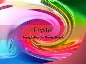 Presentation theme with color rainbow twirl generated background and a red colored foreground.