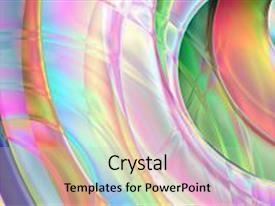 Presentation theme featuring colorful abstract prism background based background and a light gray colored foreground.