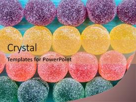 Beautiful Slide Set Featuring Colorful Candy And Jelly Sweet Backdrop A Coral Colored Foreground