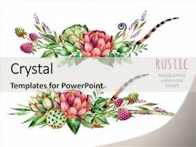 PPT layouts enhanced with colorful floral collection with artichoke background and a  colored foreground.