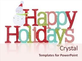 Theme with colorful happy holidays sign background and a lemonade colored foreground