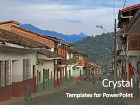 Colonial america powerpoint templates crystalgraphics ppt layouts enhanced with colorful houses in colonial city background and a dark gray colored foreground toneelgroepblik Image collections