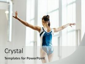 5000 gymnastics powerpoint templates w gymnastics themed backgrounds cool new slides with competition balance beam exercises backdrop and a light gray toneelgroepblik Images