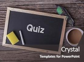 Quiz powerpoint templates ppt themes with quiz backgrounds ppt layouts having competition speech quiz on blackboard background and a dark gray colored foreground toneelgroepblik Choice Image
