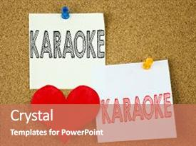 5000 karaoke powerpoint templates w karaoke themed backgrounds presentation theme having concept for singing karaoke music background and a coral colored foreground toneelgroepblik Images