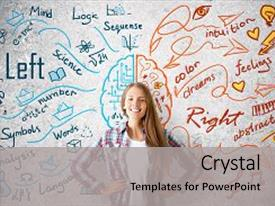 Audience pleasing PPT layouts consisting of concrete background with brain backdrop and a light gray colored foreground.