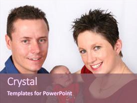 Beautiful theme featuring couple with new born baby backdrop and a violet colored foreground.