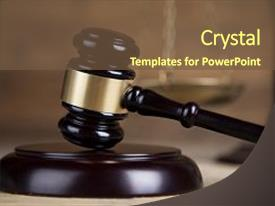 Cool new PPT theme with court gavel law theme mallet backdrop and a tawny brown colored foreground.