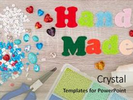 PPT layouts enhanced with create hand made jewelry background and a  colored foreground.